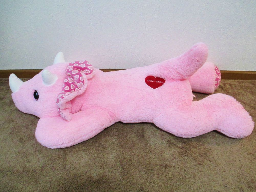 Large Jumbo Plush Pink Dinosaur Hug Luv 54 Soft Cuddly Stuffed