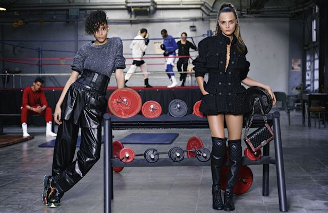 CAMPAIGN Cara Delevigne & Binx Walton for Chanel Fall 2014 by Karl Lagerfeld. www.imageamplified.com, Image Amplified