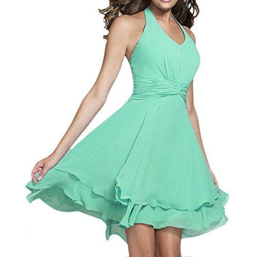 Fashion Plaza Short Halter V-neck Bridesmaid Dress D0361 (US14, Mint) Fashion Plaza http://www.amazon.com/dp/B00VFVDVYA/ref=cm_sw_r_pi_dp_vdwnvb0AHPJ0V