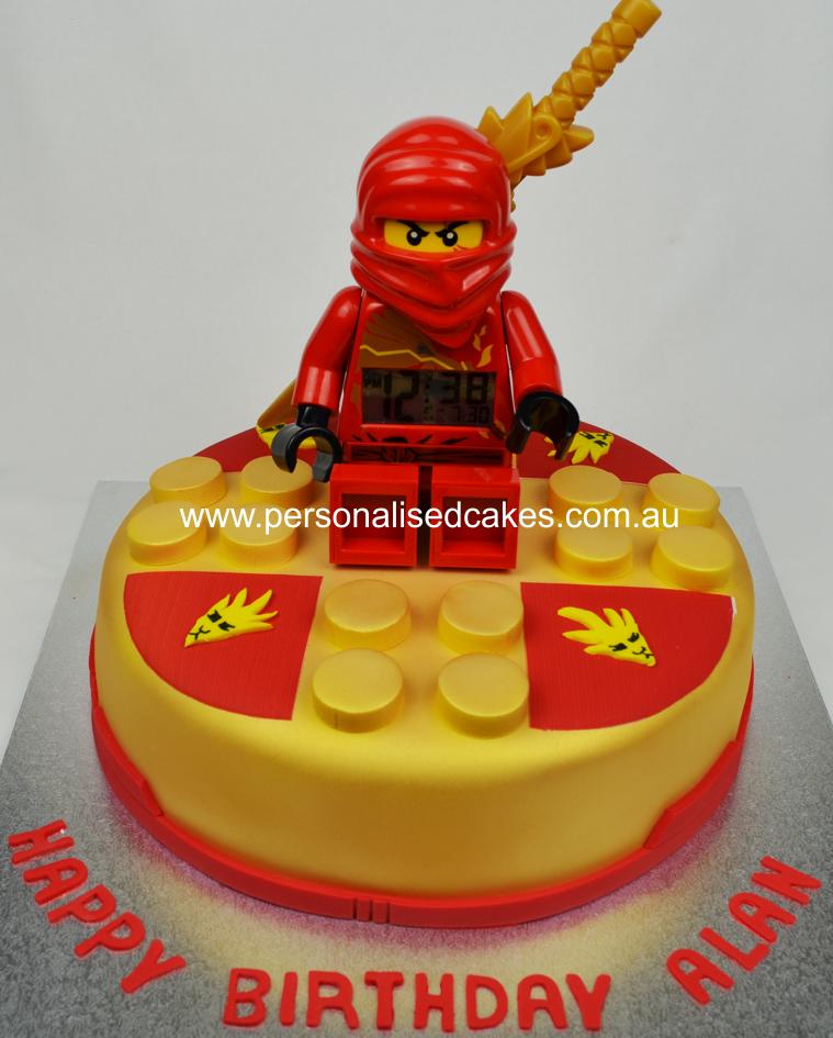 Prime Ninjago Spinner Cake Lego Kai Birthday Cakes Sydney1 Lego Funny Birthday Cards Online Alyptdamsfinfo