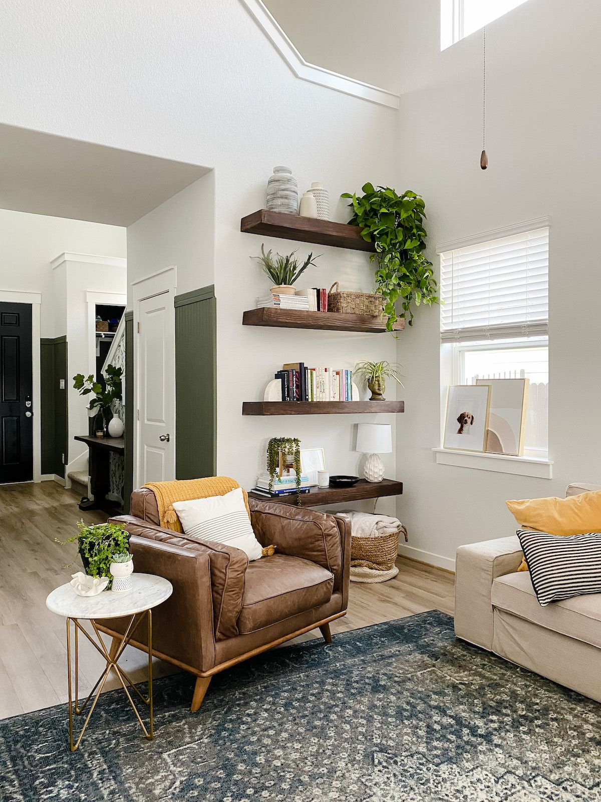 Photo of DIY Floating Shelves in the Living Room – Love & Renovations