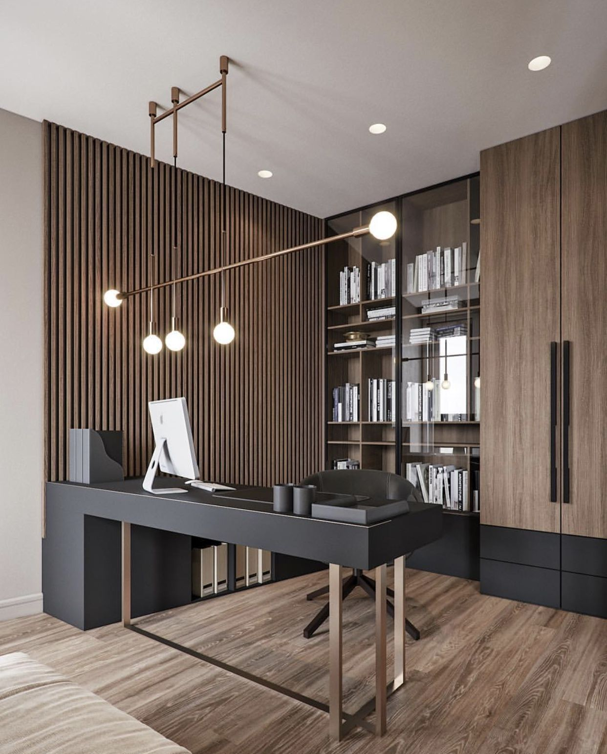 I Know It Is Not The Kitchen Pic But I Like The Brown Wood Similar To The Cabinet Finish I Pick Home Office Design Modern Office Design Office Interior Design