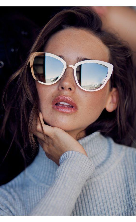 Quay Australia - Sorority Princess - Lunettes de soleil yeux de chat oversize - Rose 00vxYN