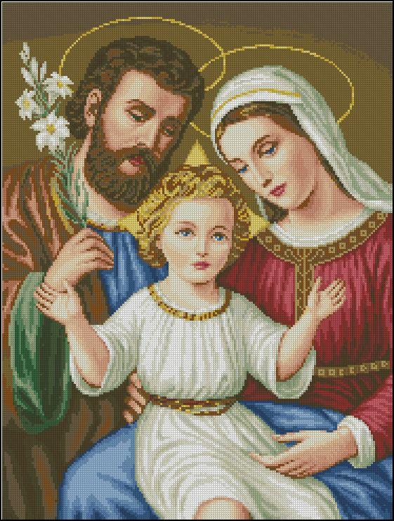 Скачать схему вышивки святое семейство   схеми ікони   Pinterest