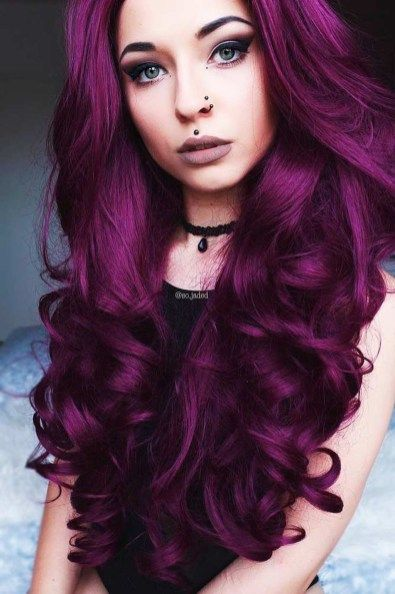 75 Beautiful Hot Pink Hair Color Ideas To Makes You Looks Stunning Aksahin Jewelry Dark Purple Hair Dark Purple Hair Color Plum Hair