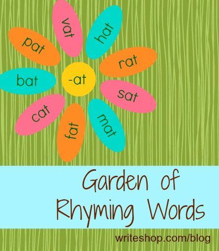 Garden of Rhyming Words | Activities, Reading skills and Homeschool