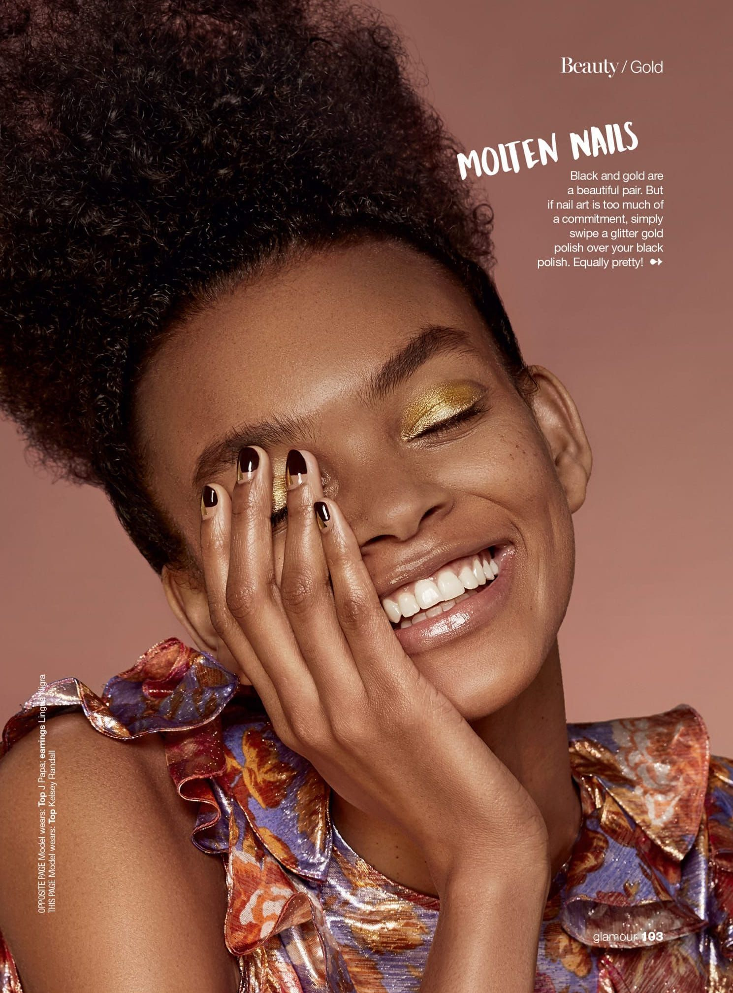 Janice Duque Condicional  Glamour South Africa beauty editorial story shot by photographer Itaysha  Jordan, makeup Liset Garza, ha… | Nyc beauty, Beauty products photography,  Black gold nails