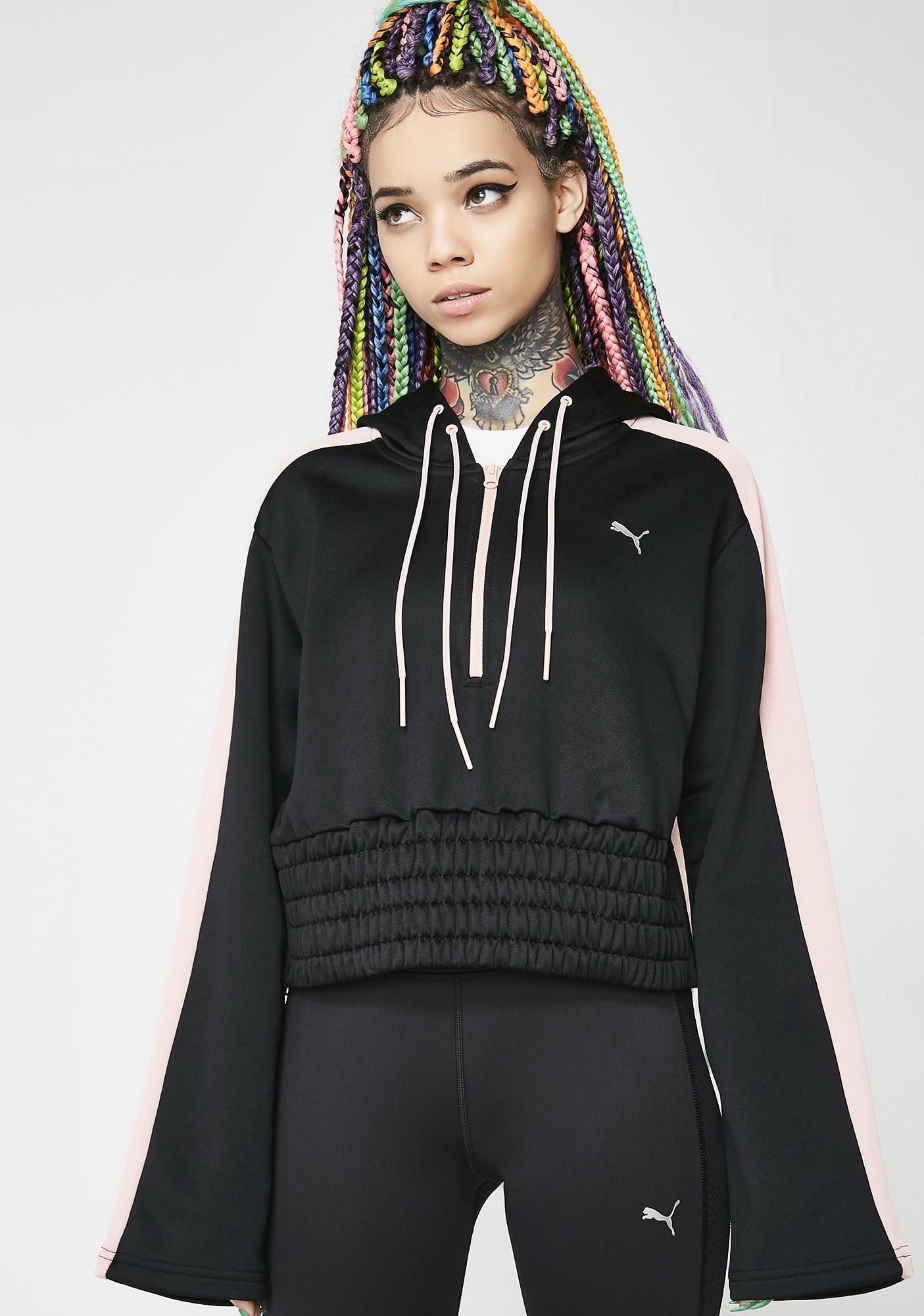8c85d6bb5 PUMA En Pointe Savannah Half Zip Hoodie got ya ready to go. This black  hoodie