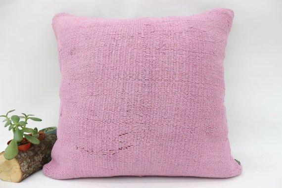 20x20 Organic Pillow, Handwoven Kilim Pillow, Hemp Pillow, Throw Pillow, Cushion Cover, Flat Pillow,