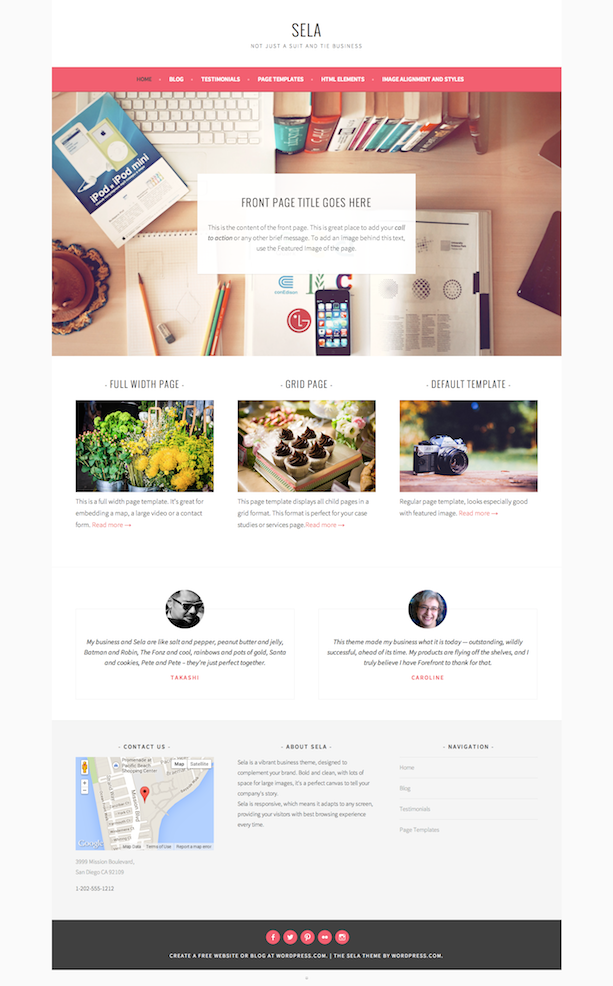 Sela Front Page Blog Themes Wordpress Theme Website Inspiration