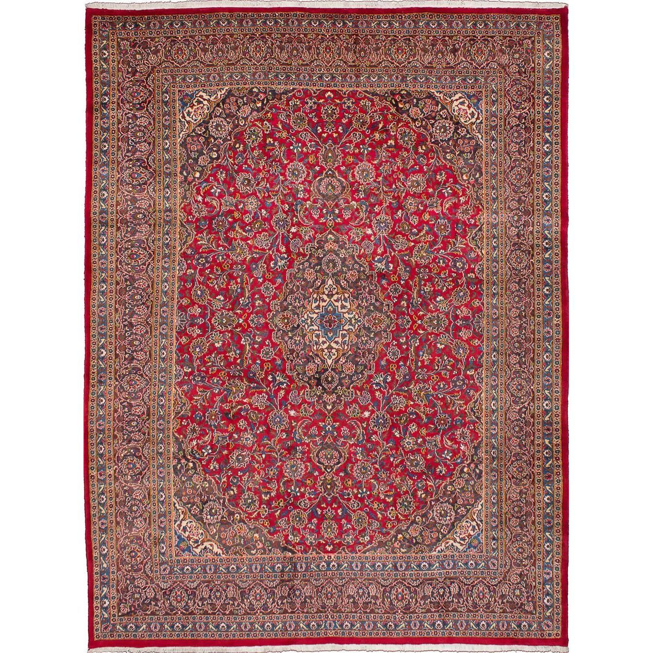 Ecarpetgallery Hand Knotted Persian Kashmar Red Wool Area Rug 9 10