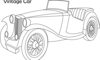 Free Coloring S Of Vintage Cars Old Pages In