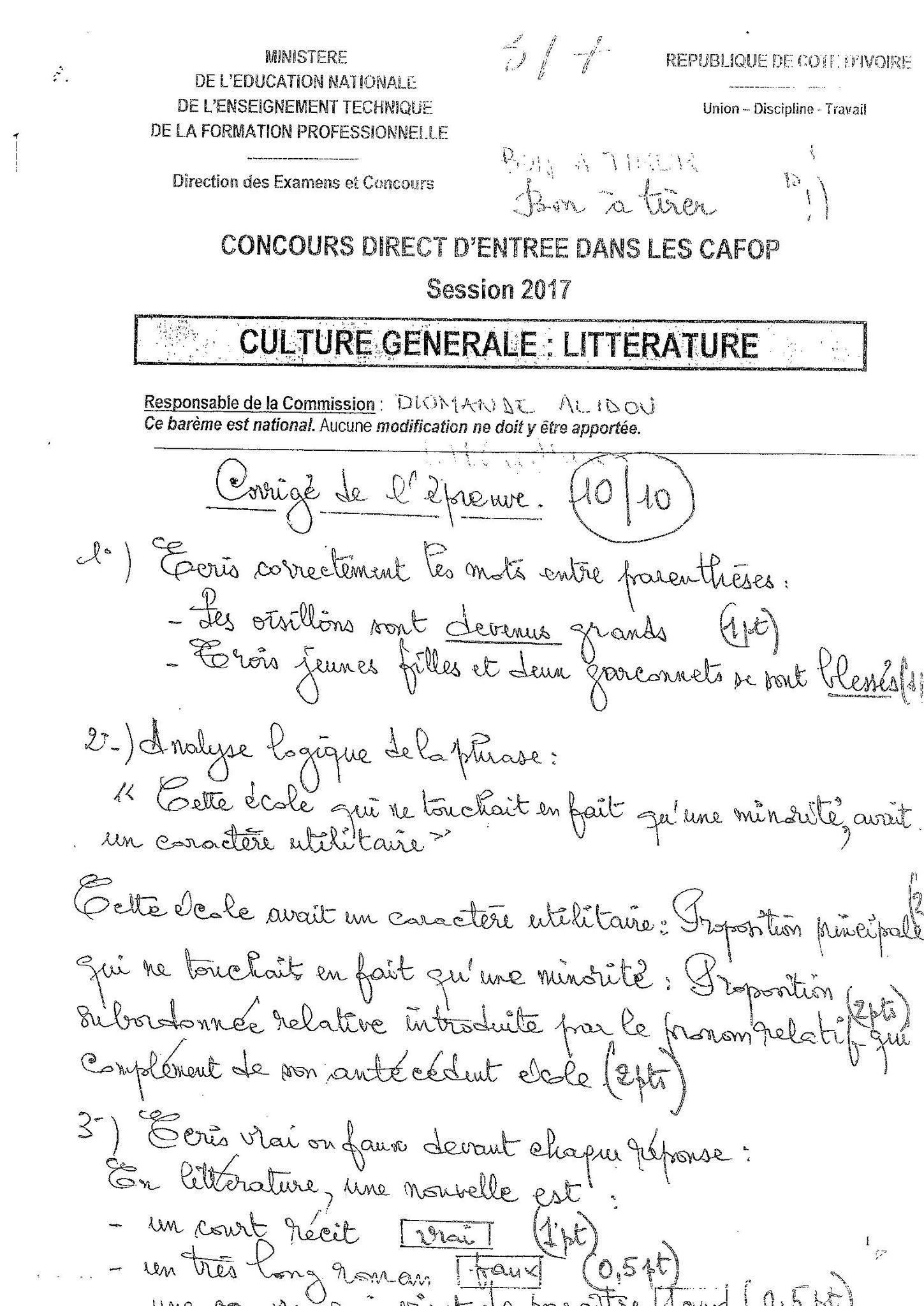 Corrige 3 Cg Math Bullet Journal Journal