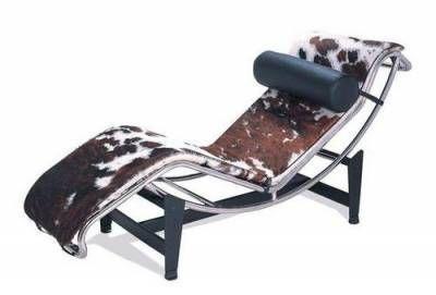 Chaise longe diseño. Piel Vaca.