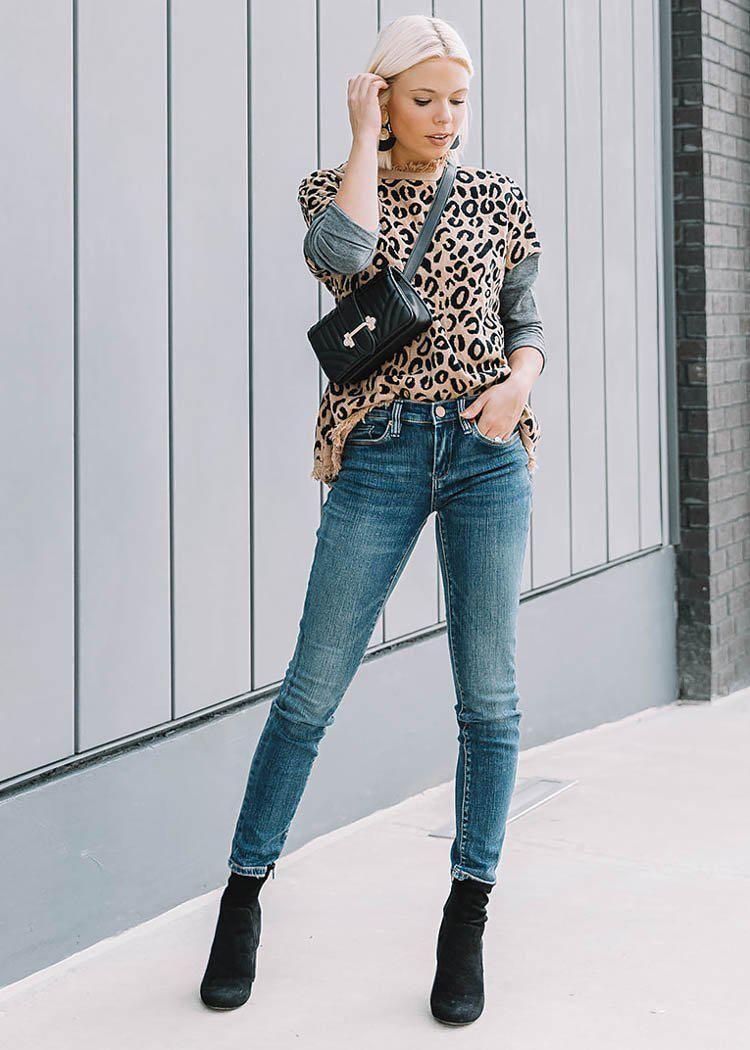23a47411a5f6ff Wildin  out this weekend. 🐆 R E S T O C K  Leopard Colorblock Sweater
