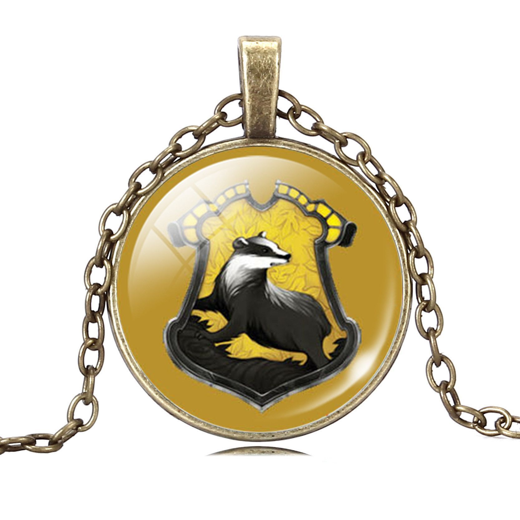 Vintage cabochon verre Collier Silver Charm Animal Pendentifs ( Bald Eagle