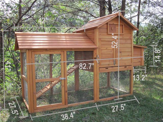 The tavern backyard chicken coop hen house rabbit hutch for Small backyard chicken coop plans free