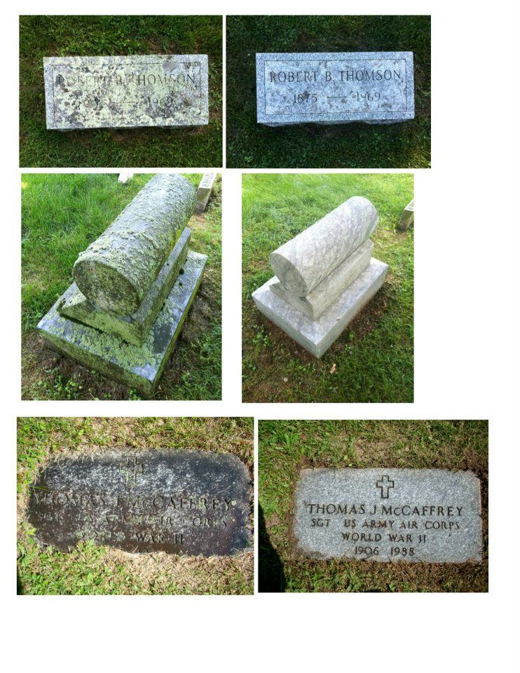 Before And After Gravestone Cleaning With D 2 Biological