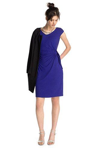 Esprit - Schmales Jersey Kleid mit Knotendetail im Online Shop kaufen 0b48e89d8d