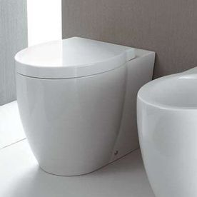 Nameeks Panorama White Round Standard Height Toilet Bowl