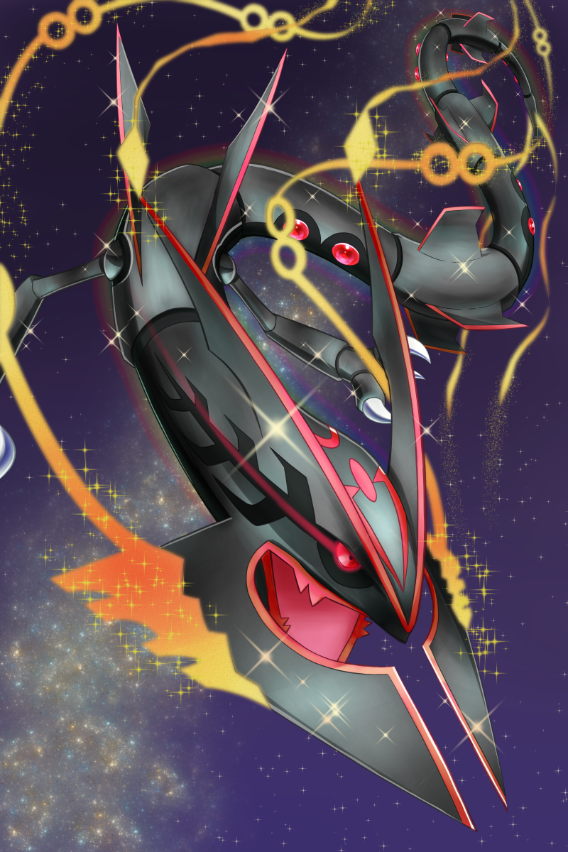 shiny mega rayquaza pokemon art pinterest pok233mon