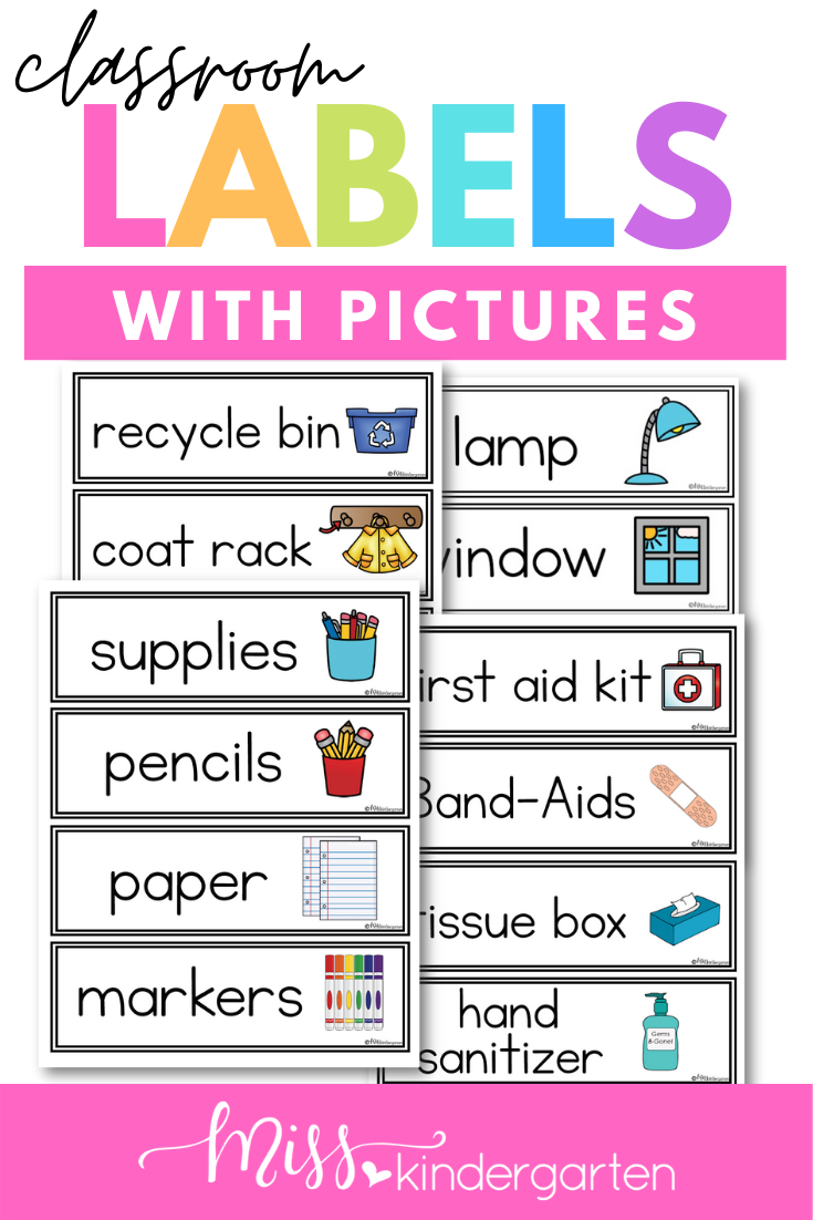 Classroom Labels With Pictures Classroom Labels Classroom Labels Printables Classroom Organization Labels