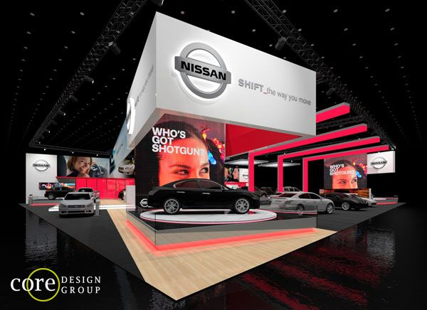 Nissan Exhibit Concept For A X Island Exhibit For Multiple - Car show booth ideas