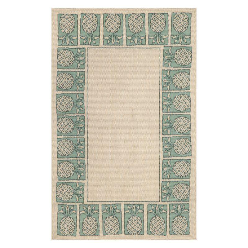 Stamp Rug liora manne terrace 1772/58 pineapple stamp indoor / outdoor rug