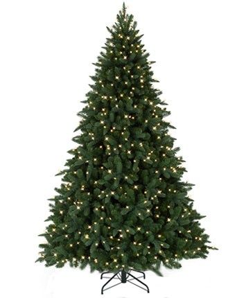Austrian Spruce Artificial Christmas Tree. 9' with with clear LED ...