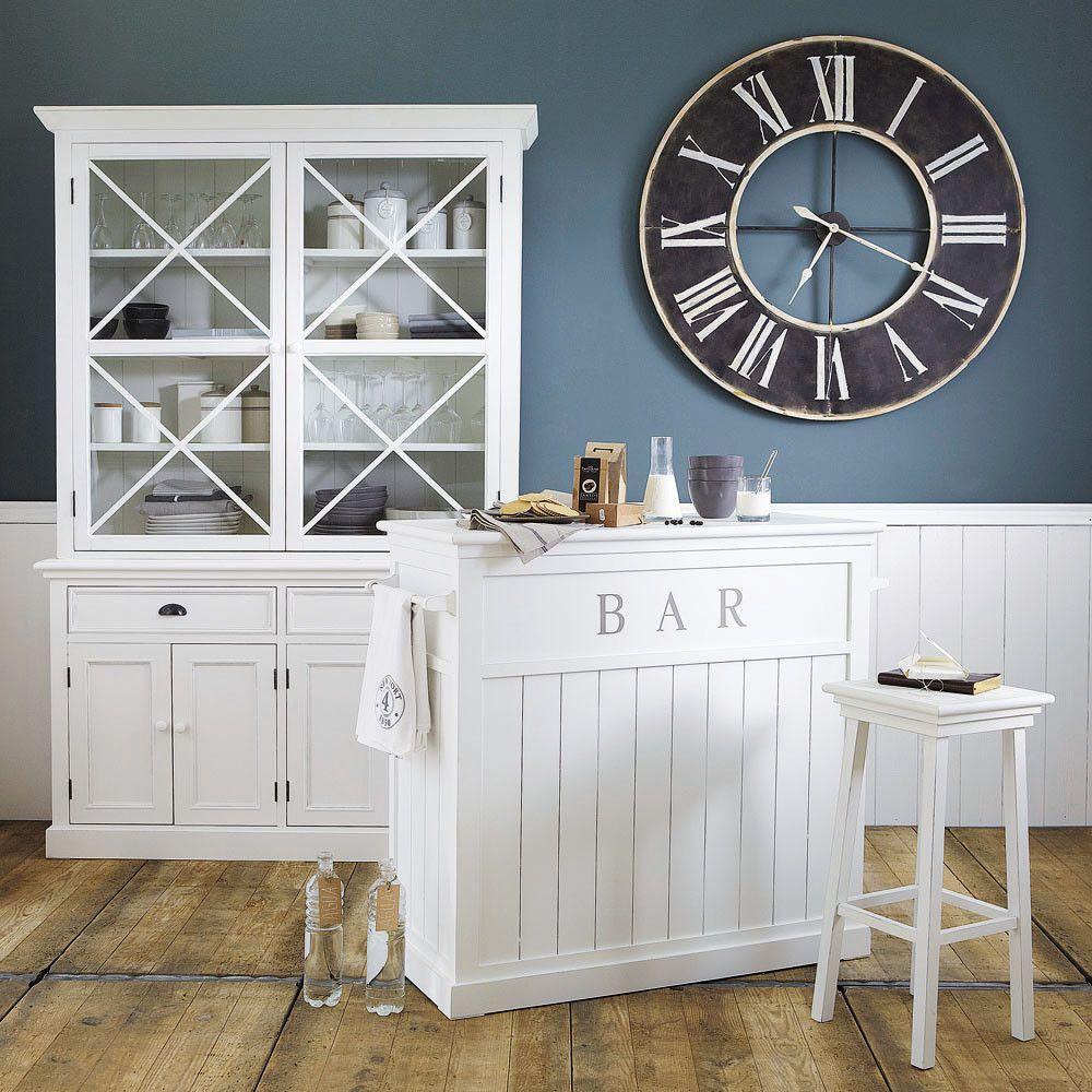 Barmöbel aus Holz, B 120 cm, weiß | Wohnen
