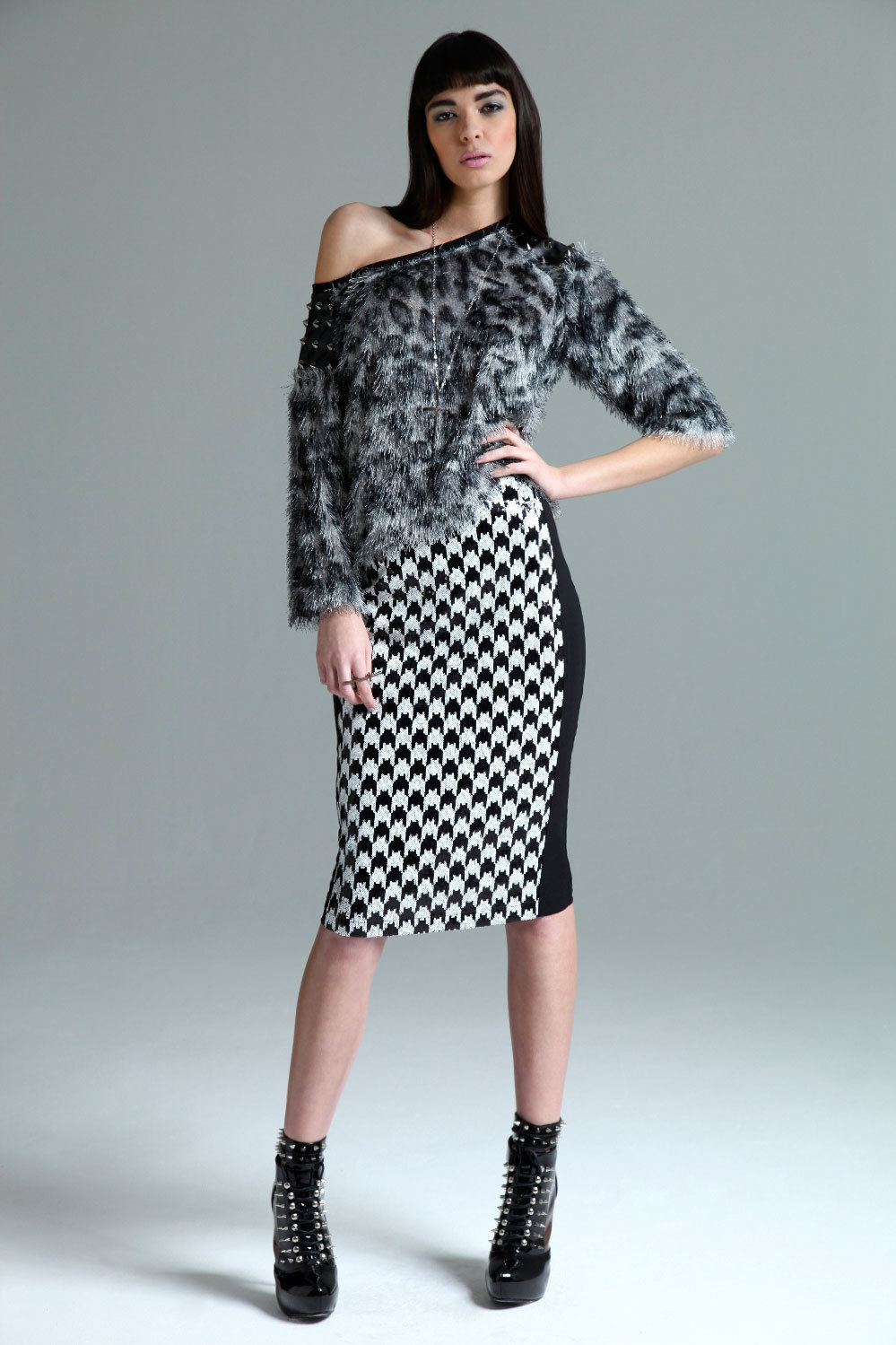 #boohoo                   #Skirt                    #Boutique #Bryony #Sequin #Dogtooth #Panel #Pencil #Skirt                     Boutique Bryony Sequin Dogtooth Panel Pencil Skirt                            http://www.seapai.com/product.aspx?PID=428271