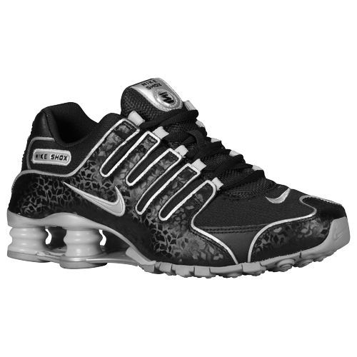 Nike Shox NZ EU - Women\u0027s - Running - Shoes - Black/Metallic Silver/