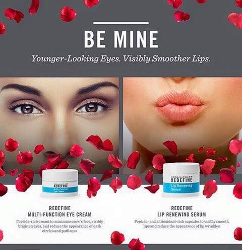 With Valentine's Day right around the corner show your skin some love....fresh eyes and soft lips.  Message me for more info