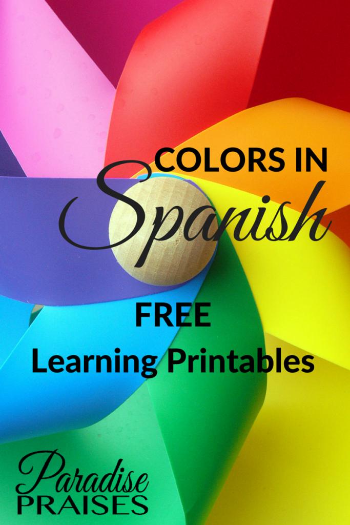 List Of Colors In Spanish Free Printable Paradise Praises Blog