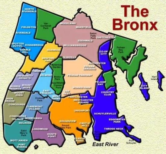 Map Of Bronx The Bronx Neighborhood map | Travel Dreams ~ New York City in 2019