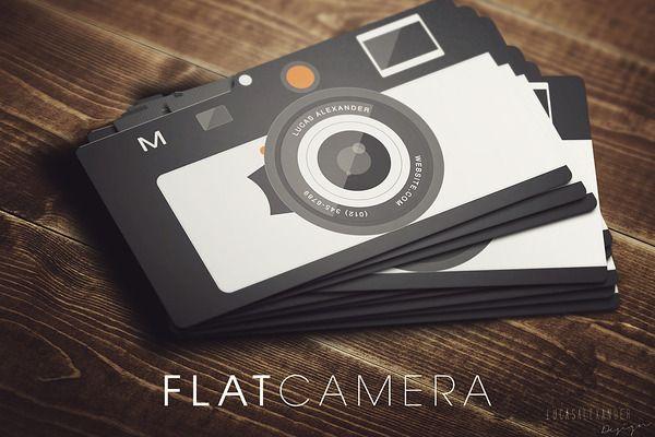 Flat camera business card pinterest business cards business and flat camera business card business cards 2 colourmoves