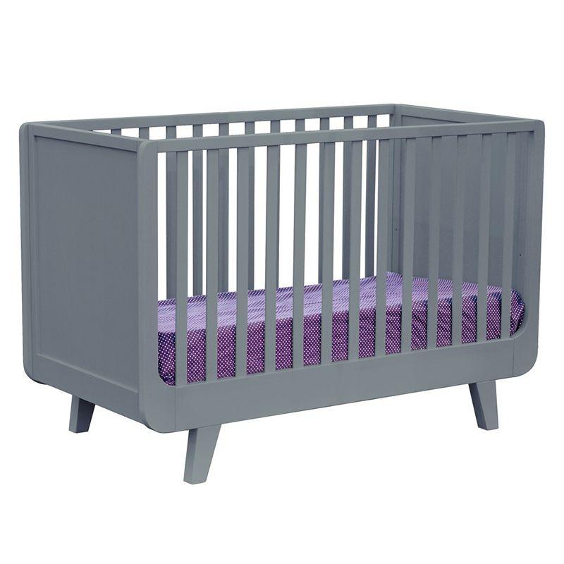Laurette Joli Môme Babybett Gitterbett Kinderbett Dunkelgrau 60x120 Cm Rausfallschutz Kinderschuhe Kinderzimmer