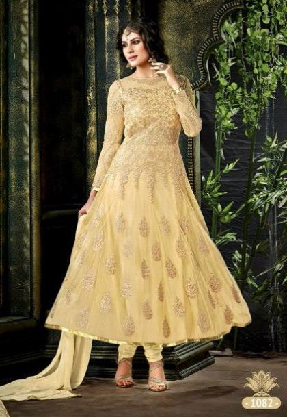 a0cae95b8b31 Dazzling Georgette Anarkali Style Dress Material With Pure Chiffon Dupatta