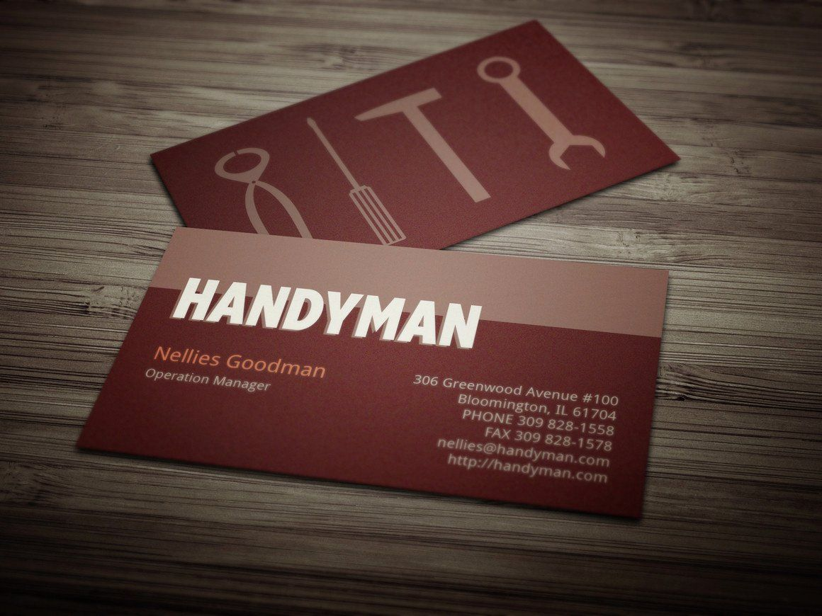 Business card template fresh handyman business