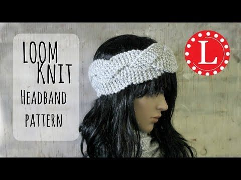 Loom Knitting Headband Braided Ear Warmer With Round Looms Easy