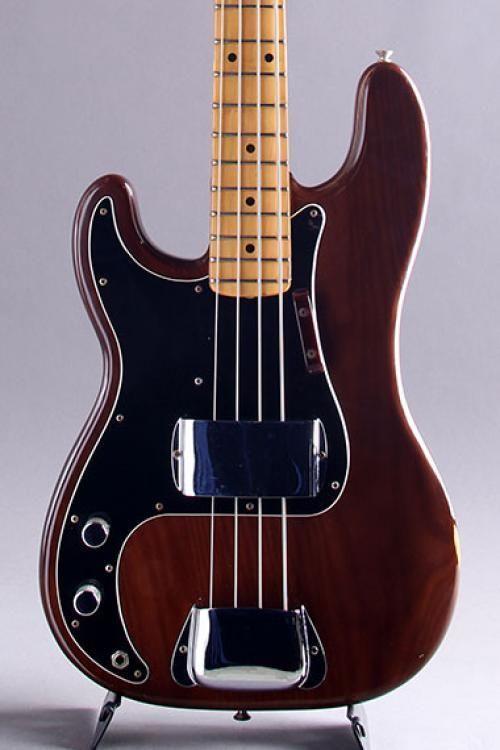 vintage fender usa precision bass guitar left hand walnut m 1976 fenderusa precisionbass. Black Bedroom Furniture Sets. Home Design Ideas