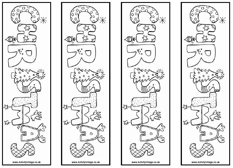 My Christmas Activity/Gift for Library Classes | Bookmarks, ESL ...