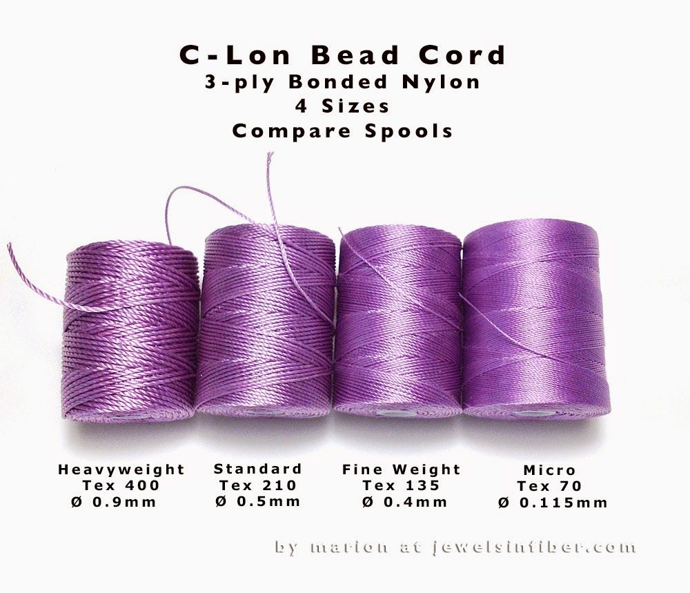 News And Such C Lon Bead Cord Comparing Sizes Kumihimo Jewelry Beading Tools Bead Crochet