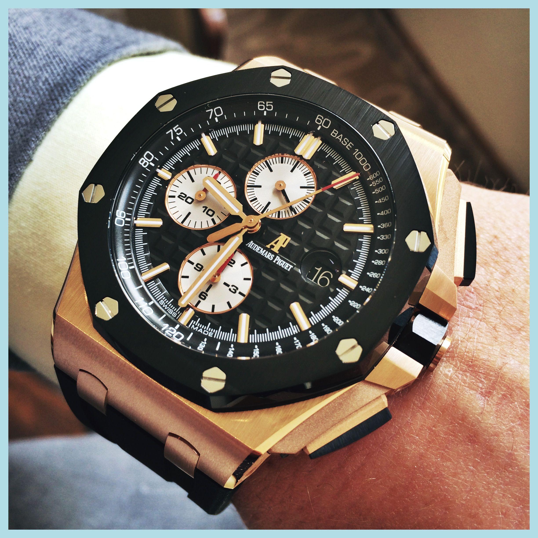 Back In Stock Audemars Piquet Royal Oak Offshore 18ct Rose Gold Black Ceramic Bezel 44mm 26401or 00 A002ca 01 Audemars Piguet Audemars Piguet Watches Piguet
