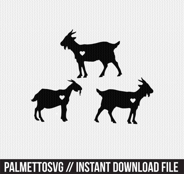 Download Goats Heart Svg Dxf Jpeg Png File Instant Download Stencil Monogram Frame Silhouette Cameo Cricut Clip Art Commercial Use