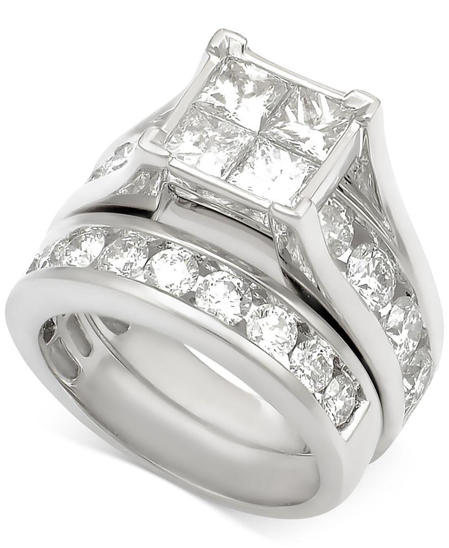 Diamond Channel-Set Bridal Set (5 ct. t.w.) in 14k White Gold