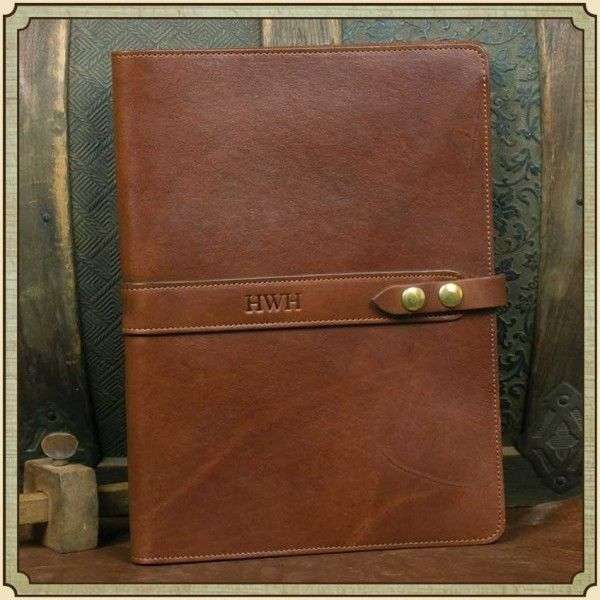 Colonel Littleton Leather Portfolio Case No 18 Gifts - leather resume portfolio