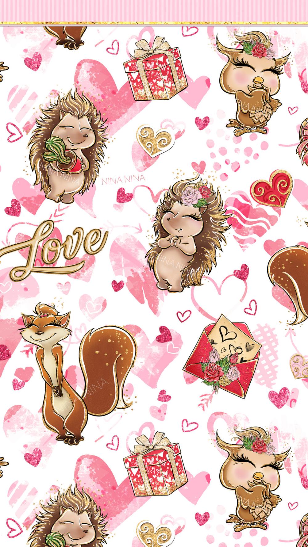 Woodland Animals Valentine S Day Clipart Valentines Clip Etsy In 2021 Animal Valentine Valentines Wallpaper Valentines Clip