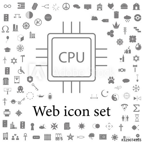 Cpu Icon Web Icons Universal Set For Web And Mobile Ad Paid Web Icon Cpu Icons Mobile In 2020 Web Icons Simple Illustration Icon
