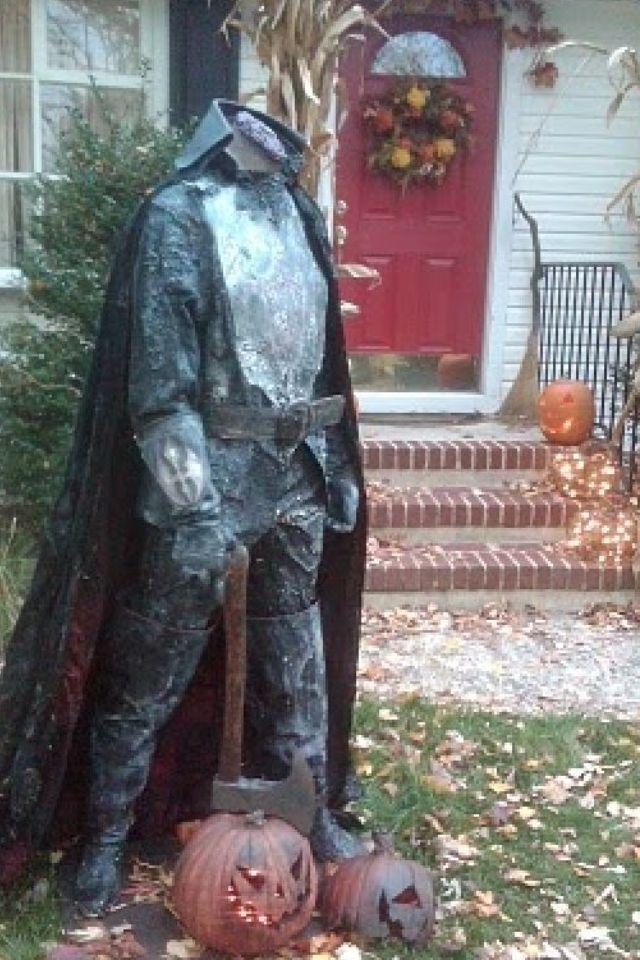 the legend of sleepy hollow yard display located in oakland nj - Sleepy Hollow Halloween Costumes